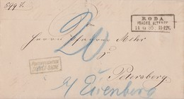 DR Brief R3 Roda I. Sachs. Altenbg. 14.11.85 Nachgebühr - Briefe U. Dokumente