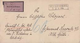 DR NN-Brief R2 Mückenberg 7.3. Gel. Nach R3 Neusalz An Der Oder 8.3.84 - Briefe U. Dokumente