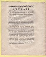 Prefet De La Manche - 9 Prairial An 9 - Extrait - Contributions Directes - Bons Pour Fourniture Des Chevaux - Documents Historiques