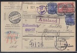 DR Paketkarte Mif Minr.2x 87,94 Auerbach 30.5.16 Gel. Nach Norwegen Mit Zollerklärung - Briefe U. Dokumente
