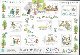 JAPAN, 2019, MNH, CHILDREN'S PICTURE BOOKS SERIES, MICE, FROGS, SHEETLET - Childhood & Youth