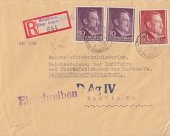 GG R-Brief Mif Minr.78,2x 79 Krynica Distr. Krakau 2.1.43 Gel. Nach Berlin D Ag IV - Occupation 1938-45