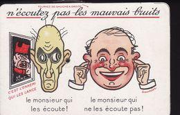 Carte à Système Caricature Guerre De 1914 ''N'écoutez Pas Les Mauvais Bruits'' - A Systèmes