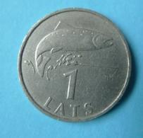 Smc. Latvia 1 LATS 2007 SALMON Latvian Coin - Lettland