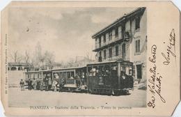 ITALIE -  PIANEZZA STAZIONE DELLA TRAMVIA. TRENO IN PARTENZA - Other Cities