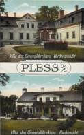 Pologne - Pless O/S - Postcard 2 Views - Villa Des Generaldirektors 1921 - Pologne