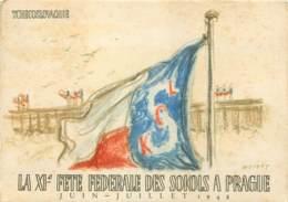 Tchéquie - Illustration XIe Fete Federale Des Sokols à PRAGUE 1948 (2) - Tchéquie