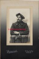 Photo Cartonnée-chasseur Alpin Du 6e R-photoGermondi à Nice Format 10,5 X 16cm - Guerre, Militaire