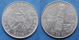 "GUATEMALA - 10 Centavos 2009 ""monolito De Quirigua"" KM# 277.6 - Edelweiss Coins - Guatemala"