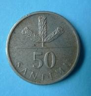 Smc. Latvia 50 Santimu Santimi 2007 Latvian Coin - Lettland
