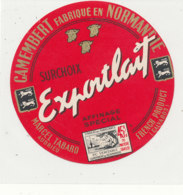 X 313 / ETIQUETTE FROMAGE  CAMEMBERT  MARCEL TABARD AUDRIEU  (CALVADOS) - Fromage