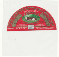 X 319 / ETIQUETTE FROMAGE  DEMI-CAMEMBERT HENRI LEPETIT  ST MACLOU      (CALVADOS) - Fromage