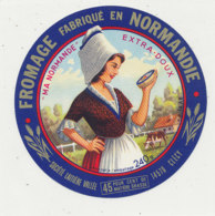 X 321 / ETIQUETTE FROMAGE  MA NORMANDE  VALLEE CLECY      (CALVADOS) - Fromage