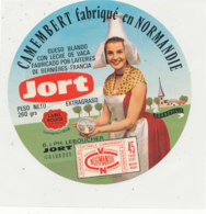 X 323 / ETIQUETTE FROMAGE  CAMEMBERT   JORT  LEBOUCHER     JORT      (CALVADOS) - Fromage