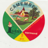 X 336 / ETIQUETTE FROMAGE  CAMEMBERT   LUTIN NORMAND  61 G. - Fromage