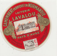 X 338 / ETIQUETTE FROMAGE  CAMEMBERT  LAITERIE LAVALOU  FROMAGERIE DU CHATEAU  LE BOURG-ST LEONARD (ORNE) - Fromage
