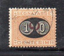 T1032 - REGNO 1890 , Sassone Segnatasse 10/2 Cent N. 17  Usato  (M2200). MASCHERINE - 1878-00 Umberto I