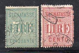 T1031 - REGNO 1884 , Sassone Segnatasse N. 15/16  Usato  (M2200). - 1878-00 Humberto I