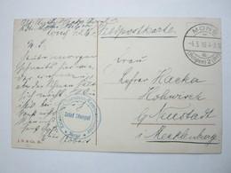 1916 , MONS - Kommandantur , Carte Postale Militaire Allemagne - WW I