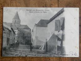 CPA (86) Vienne - Saulgé, Près Montmorillon - Mairie Et Clocher De L'Eglise - Montmorillon