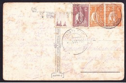 "Postcard -  Messines To ""Algarves"" / Perfect Postmark - S. BARTOLOMEU DE MESSINES, 1922, Stamps Ceres - Lettere"