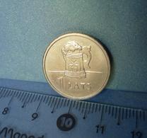 Z. Latvia 1 LATS 2011 BEER MUG - Latvian Coin - Lettland