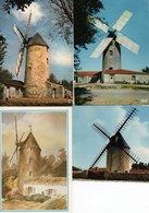 """Lot De 7 Cartes Postales Modernes - """" Moulins à Vent """" - 2 Scan. - Postales"""
