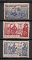 Madagascar - 1938-39 - N°Yv. 206 - 207 - 208 - Curie / New York - Neuf Luxe ** / MNH / Postfrisch - Madagascar (1889-1960)