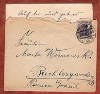 Brief Mit Inhalt, Germania, Berlin Nach Berchtesgaden 1918 (91328) - Briefe U. Dokumente