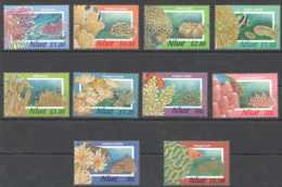 1984 Niue Standart Set Coralls And Sea Life 10 V MNH** MiNr. 869 - 878 Fishes, Underwater World, - Niue