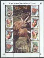 2004 Burundi WWF Sitatunga Tragelaphus Spekii Sheetlet Of 2 Sets MiNr. 1867 - 1870 Game, - Burundi