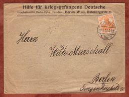 Brief, Hilfe Fuer Kriegsgefangene Deutsche, Germania, Berlin 1917 (91329) - Briefe U. Dokumente