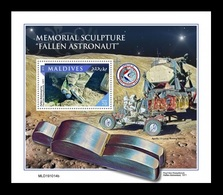 Maldives 2020 Mih. 8897 (Bl.1440) Space. Memorial Sculpture Fallen Astronaut On The Moon MNH ** - Maldives (1965-...)