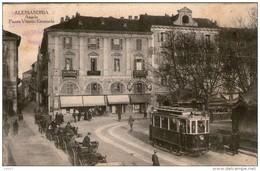 Cartolina Alessandria Piazza V. Emanuele Viaggiata 1915 01 - Alessandria