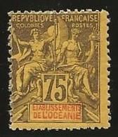 Ets Français De L'Inde YT 12 N* Infime - Indië (1892-1954)