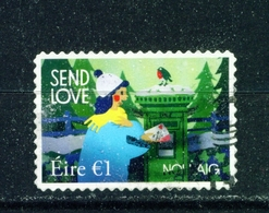 IRELAND  -  2019 Christmas Self Adhesive Booklet Stamp Used As Scan - 1949-... Republic Of Ireland