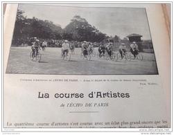 1896 Journal LA BICYCLETTE - COURSE DES ARTISTES - TANDEM - Mlle BLANCHE DUPRÉ - BICYCLETTE WHITWORTH - PRÉFET LÉPINE - Revistas - Antes 1900