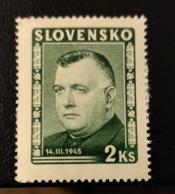 Slovaquie 1945 SK 124 Jozef Tiso Politiciens - Slovaquie