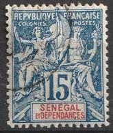 Sénégal Et Dépendances 1892-93 N° 13 Faux De FOURNIER (F18) - Senegal (1887-1944)