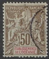 Etablissement De L'Océanie 1900-07 N° 20 Faux De Fournier (F18) - Oceanía (1892-1958)
