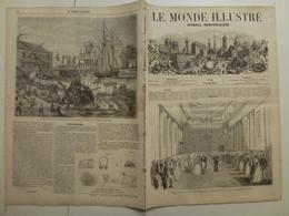 Le Monde Illustré 15 Août 1857 18c Princesse Charlotte Mariage Saint Nazaire Bassin à Flot Loire Nouveau Louvre Accident - Livres, BD, Revues