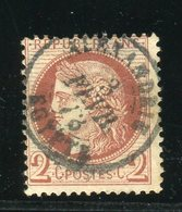 Rare N° 51 - Cachet à Date Du Bureau Français D'Alexandrie ( Egypte ) - 1871-1875 Ceres