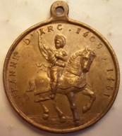 Médaille JEANNE D'ARC 1409-1431 Orléans 1429 Reims 1429 Rouen 1431    10 - Godsdienst & Esoterisme
