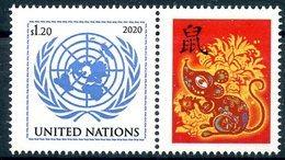 "ONU New-York 2020 - ""Chinese Calendar Année Du Rat"" ** - New-York - Siège De L'ONU"