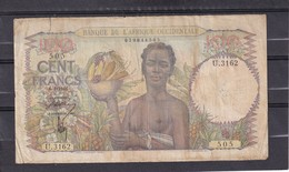 AOF French West Africa 100 Fr 1948 Good ? 6-1-1948 - Stati Dell'Africa Occidentale