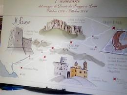 REGGIO EMILIA LUNIGIANA ILLUSTRATA VIAGGIO DI DANTE ALIGHIERI FINO A LUNI PIETRA BISMANTOVA  1306  N2006  HL5084 - Reggio Nell'Emilia
