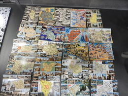 LOT  DE   148 CARTES  POSTALES     CONTOURS  ET  CARTES  GEOGRAPHIQUES - Postcards