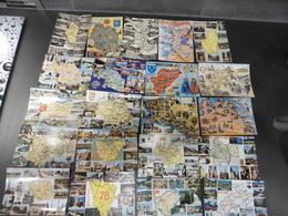 LOT  DE   148 CARTES  POSTALES     CONTOURS  ET  CARTES  GEOGRAPHIQUES - Cartes Postales