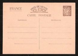 France Entier Postal Iris Sans Valeur CP1 + Pétain 512 CP3 Neuf Sans Charnière ** MNH - Postal Stamped Stationery