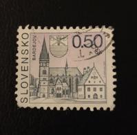 Slovaquie 2000 SK 316 Bardejov  Églises - Cathédrales - Basiliques - Chapelles | Hôtels De Ville | Patrimoine Mondial - Oblitérés